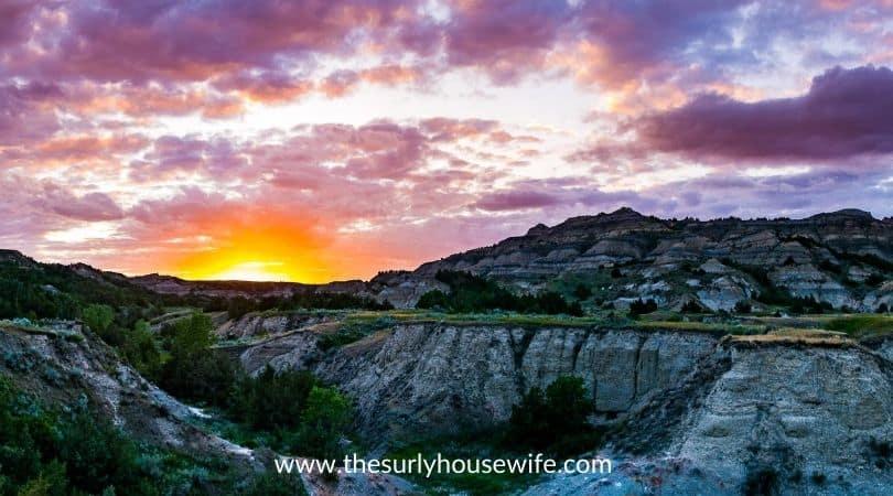 Theodore Rosevelt National Park at Sunset
