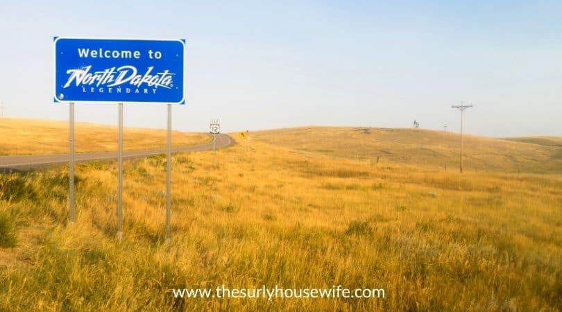 Welcome to Legendary North Dakota Road Entry Sign. Title image of blog post 20 children's books about North Dakota