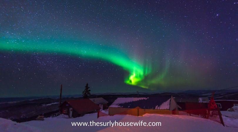 Northern lights over Fairbanks, Alaska