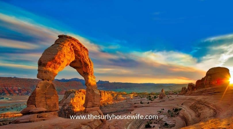 Arches National Park. Title image for blog post 20 children's books about Utah